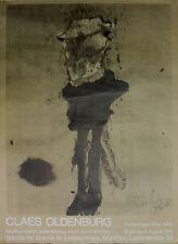 CLAES OLDENBURG. Drucksigniertes Plakat Lenbachhaus POP ART Robert Rauschenberg