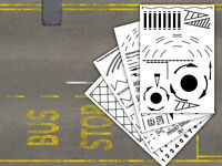 LASER CUT ROAD MARKING STENCILS - OO GAUGE / 4MM / 1:76 FOR MODEL RAILWAYS