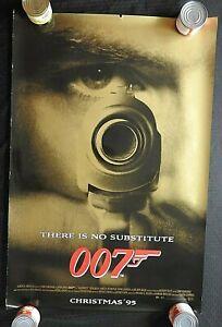 "1995 ""GOLDEN EYE 007"" 27"" x 40"" Movie Poster JAMES BOND Pierce Brosnan VERY GOOD"