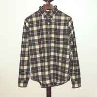Abercrombie & Fitch size XL Black White Plaid Button Front Muscle Shirt