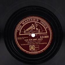 """Glenn MILLER Tempo di Guerra 78 """"ALICE ABITO BLU/una meravigliosa"""" UK HMV BD 5654 e"""
