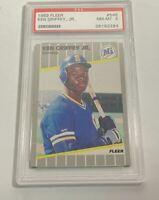 1989 FLEER KEN GRIFFEY JR. #548 ROOKIE CARD RC PSA NEAR MINT 8 (DR)