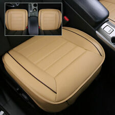 PU Leather Bamboo Charcoal Car Seat Cover Full Surround Breathable Beige RA