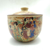 Chinese Famille-rose Porcelain Beautiful Woman Beauty Cover Pot Kettle Tea Caddy