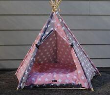 Dog Teepee | Pink & Grey Starry