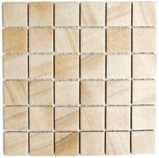 Mosaik Steinoptik sandbeige Fliesenspiegel Küche Wand Art: 16-Aiso98 | 10 Matten