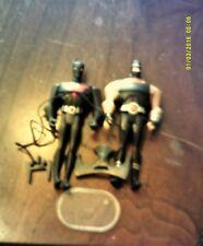"""DC Justice League Unlimited 4""""  Action Figures JLU 2 LOT BATMAN BEYOND AND BANE"""