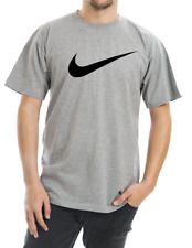 Nike Men's Short Sleeve Swoosh Logo Printed T-Shirt Gray Purple Blue White Red S