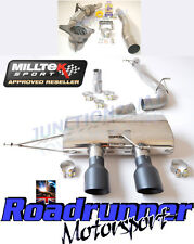 "MILLTEK GOLF MK6 R SCARICO 3 ""Corsa Turbo BACK & CAT non RES non Valved Nero Punta"