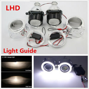 "2.5"" DC9-16V Car H1 H4 H7 Universal HID Xenon Projector Lens Angel Eyes+Inverter"
