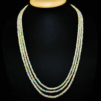 Ethiopian Fire Opal necklace with 18 kt (750/1000) gold Clasp, length 50 cm