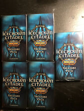 Wow World of Warcraft Tcg Icecrown Citadel factory sealed Treasure pack x5 Lot!