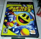 PAC-MAN WORLD 3 PS2 WITH CLASSIC 1980S PACMAN 2 GAMES IN 1 FACTORY SEALED NEW