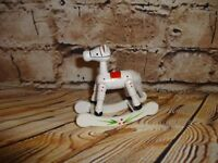 Vintage Wooden Wood Rocking Horse White Tree Ornament Holiday Decoration No Hang