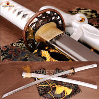 Hand Forged Japanese Katana Damascus Steel Blade Samurai Sword Full Tang Sharp