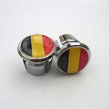 Vintage Style Belgium Flag Racing Bar Plugs, Caps