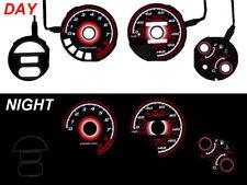 Red Glow 93-97 Honda Del Sol VTEC 140MPH Gauge Face Overlay DelSol JDM