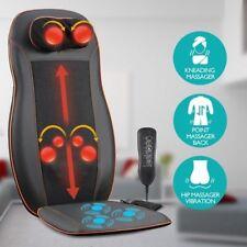 NEW 4 Adjustable Node Full Body Car Seat Back Massager Cushion Shiatsu Chair Pad