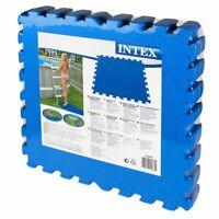 Intex 29081 Piastrella Antiscivolo Blu 8 Pz 50x50x10Hcm Sotto Piscina Protezione