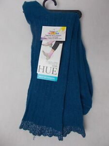 Hue Women's Scalloped Pointelle Socks Eclipse Blue with Metallic One Size USA