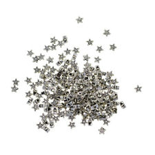 100x Tibetan Silver Star Loose Spacer Beads Charm Making Jewelry Finding 6mm