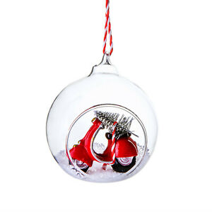 Coming Home For Xmas Scooter Open Bauble Tree Ornament Christmas Festive