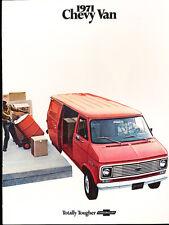 1971 Chevrolet Chevy Van 12-page Original Car Sales Brochure Catalog