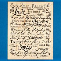 PSX Inspirational Words Background Rubber Stamp K-3237 Motivational Collage