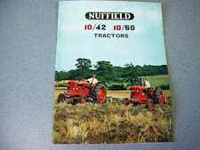 Nuffield 10/42 & 10/60 Tractor Color Brochure from 1965