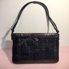 Vintage Dior black snakeskin shoulder bag from the 1960s