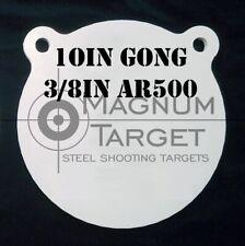 """Ar500 3/8"""" Steel Shooting Target - 10"""" Metal Rifle/Pistol Range Practice Gongs"""