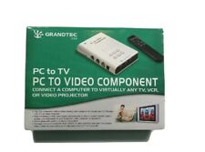 Grandtec USA  PC to TV PC to Video Component GXP-2000 Scan Concerter ~ No Remote