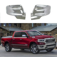 Side Mirror Cover For 2019-2021 Dodge Ram 1500 Chrome Covers Trim W/Turn Signal