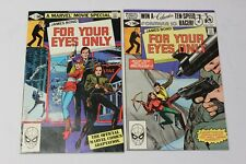 James Bond For Your Eyes Only Issues #1 & 2 Comic Set 1981  Marvel Comics F / VF