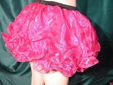 XL Pink Organza Triple Layered Ruffle Tutu - Burlesque, Fancy Dress