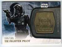 2016 Topps Star Wars Force Awakens Ser 2 Medallion Gold /185 TIE Fighter Pilot