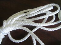 """2 EA. 48"""" WHITE CONTINUOUS CORD LOOP HUNTER DOUGLAS SPRINGS FITS ALL CELL SHADES"""