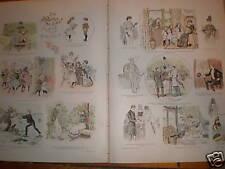 Colour cartoon Les Affaires de Coeur by Mars 1891