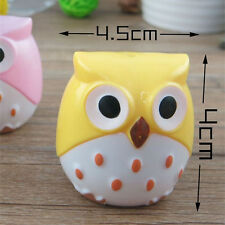 Cute Kid Stationery Mini Kawaii Owl Pattern Pencil Eye Pen Pencil Sharpener 2PCS