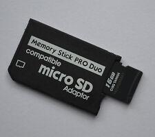 16 GB MEMORY STICK PRO DUO adattatore con microSDHC scheda di memoria per Sony PSP