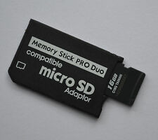16 gb Memory Stick Pro Duo adaptador con tarjeta de memoria microSDHC para Sony PSP