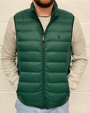 Polo Ralph Lauren Mens New Lightweight Packable Down Gilet Jacket Coat in Green