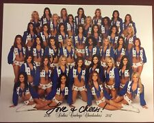 2016-2017 Dallas Cowboys Cheerleaders DCC Official Team Picture Signed X2