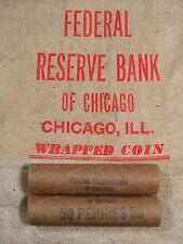 ONE UNSEARCHED - Uncirculated Lincoln Wheat Penny Roll - 1909 1958 P D S (205)