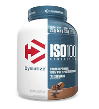 Dymatize ISO 100 Hydrolyzed 100% Whey Protein Isolate, Gourmet Chocolate, 5lb