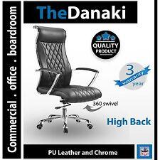 Office Chair Black Diamond pattern High back