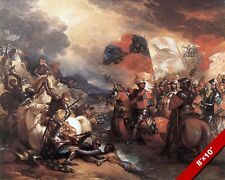 KING EDWARD III ENGLAND CROSSING THE SOMME RIVER PAINTING ART REAL CANVASPRINT