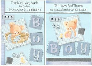Thank You For A  Grandson / Great -Grandson Card  In Various Designs.