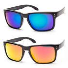 Retro Keyhole Holbrook Style Sunglasses Colored Frame Mirror Lens Flat Frame c