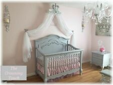 Silver White Bed Crown Canopy Princess Girls Room Crib/Bedroom/Party Decor